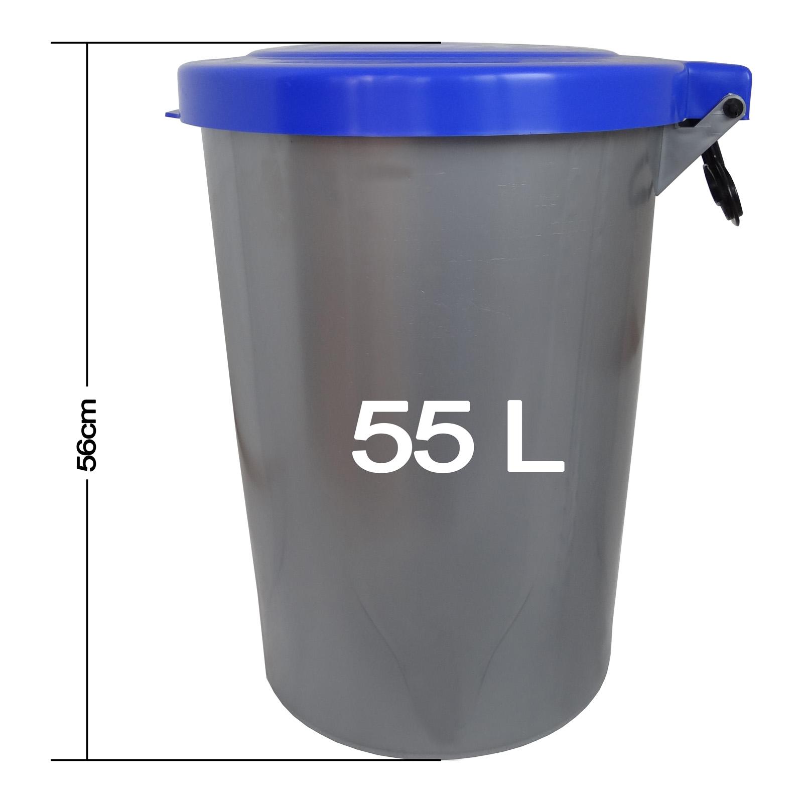 Abfalleimer XXL 50 Liter Müllsammler Mülleimer Abfallsammler Mülltonne Eimer